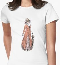 Miss Phoebe Churcham - Regency Fashion Illustration Womens Fitted T-Shirt