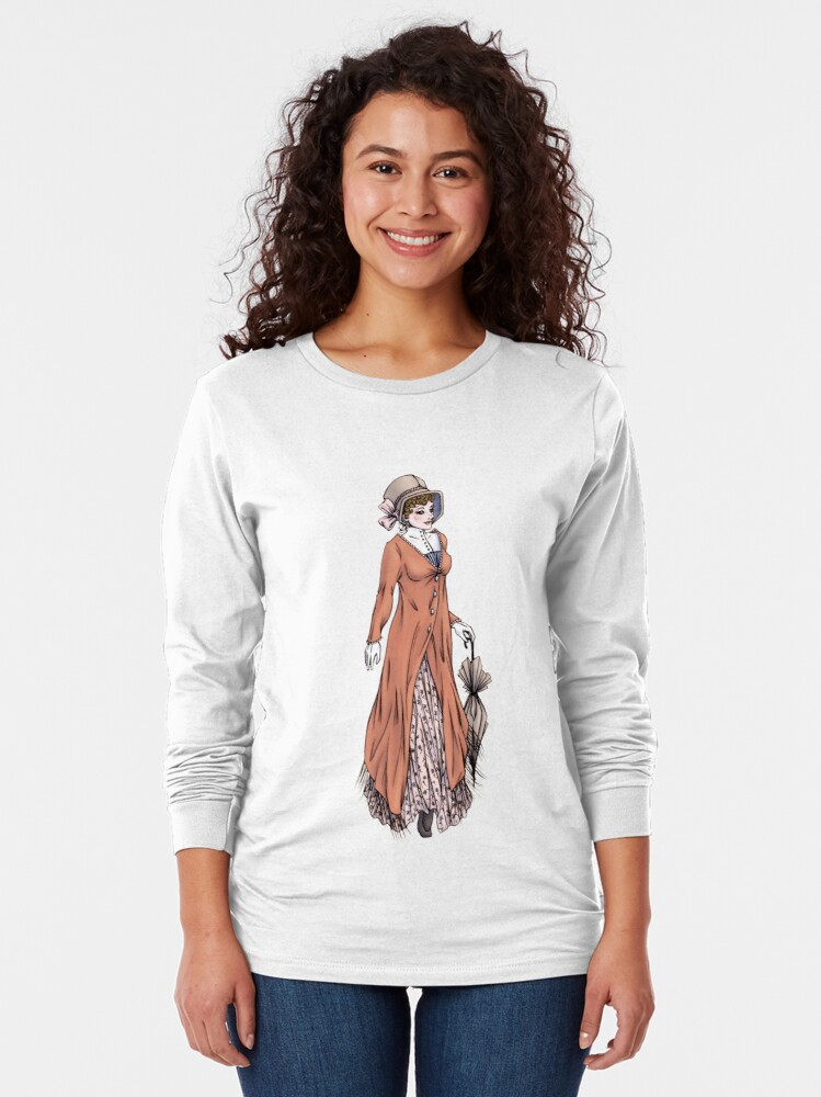 Alternate view of Miss Phoebe Churcham - Regency Fashion Illustration Long Sleeve T-Shirt