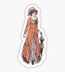 Miss Phoebe Churcham - Regency Fashion Illustration Sticker