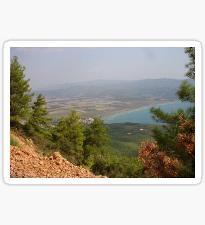 Gokova Plain, Sky, Sea Landscape Turkey Sticker