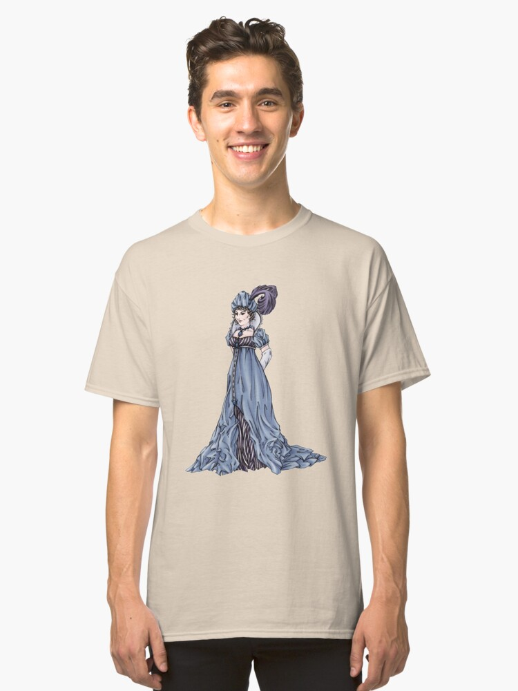 The Dowager Marchioness of Lavington - Regency Fashion Illustration Classic T-Shirt Front