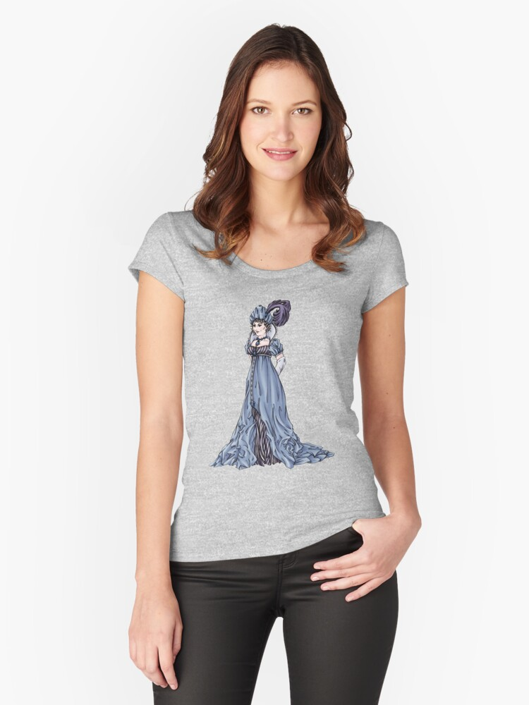 The Dowager Marchioness of Lavington - Regency Fashion Illustration Women's Fitted Scoop T-Shirt Front