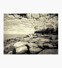 Lakeside Boulders  (duotone) Photographic Print