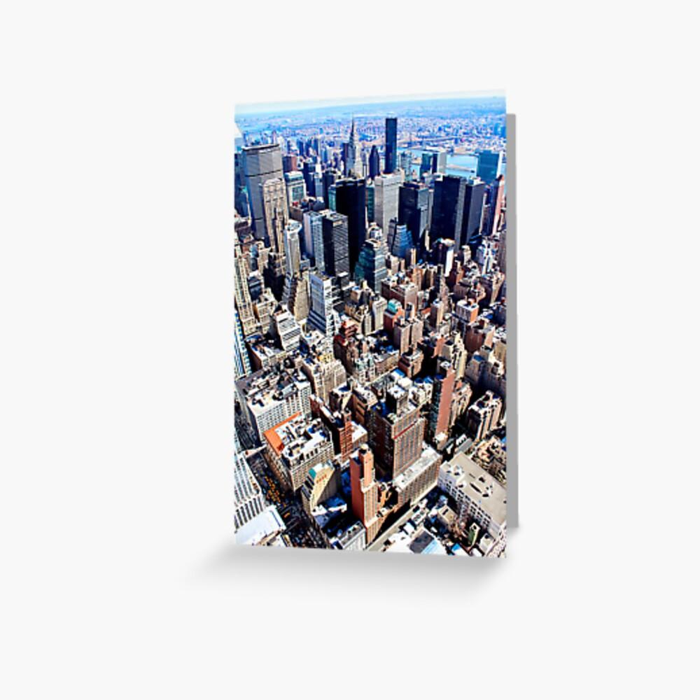 New York From Atop Tarjetas de felicitación