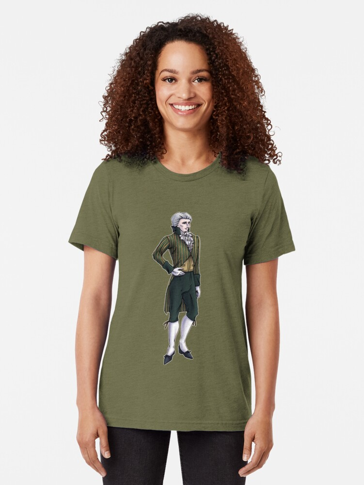 Alternate view of The Earl of Mooresholm - Regency Fashion Illustration Tri-blend T-Shirt