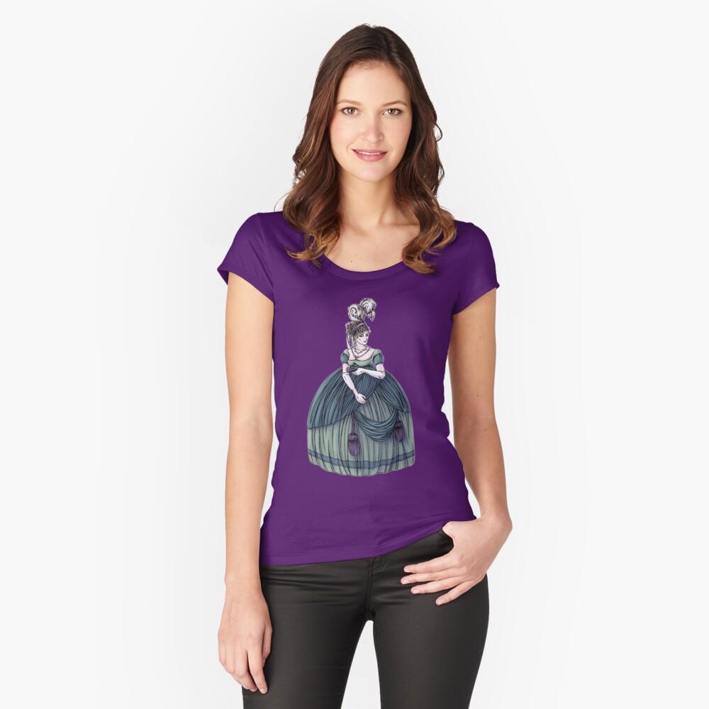 Viscountess Garvestone - Regency Fashion Illustration Fitted Scoop T-Shirt