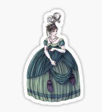 Viscountess Garvestone - Regency Fashion Illustration Sticker