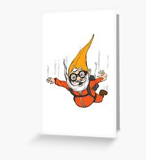 Extreme Sport Gnome Greeting Card