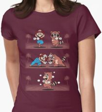 Tanooki Fusion Women's Fitted T-Shirt