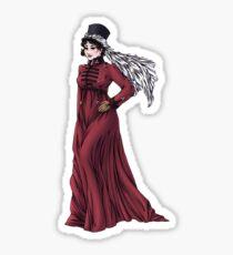 Miss Valeria Fulbourn - Regency Fashion Illustration Sticker