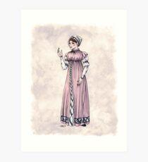 Lady Tabitha Newick - Regency Fashion Illustration Art Print