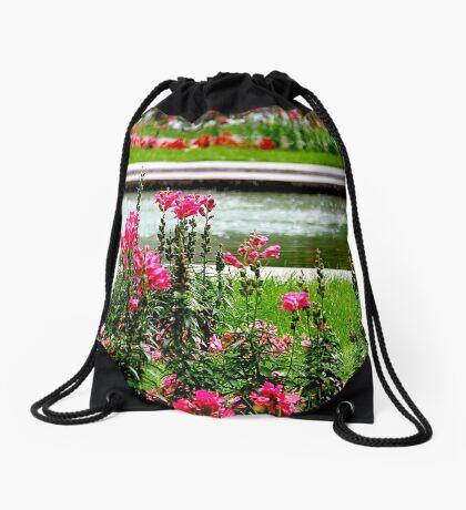 Summer park Drawstring Bag