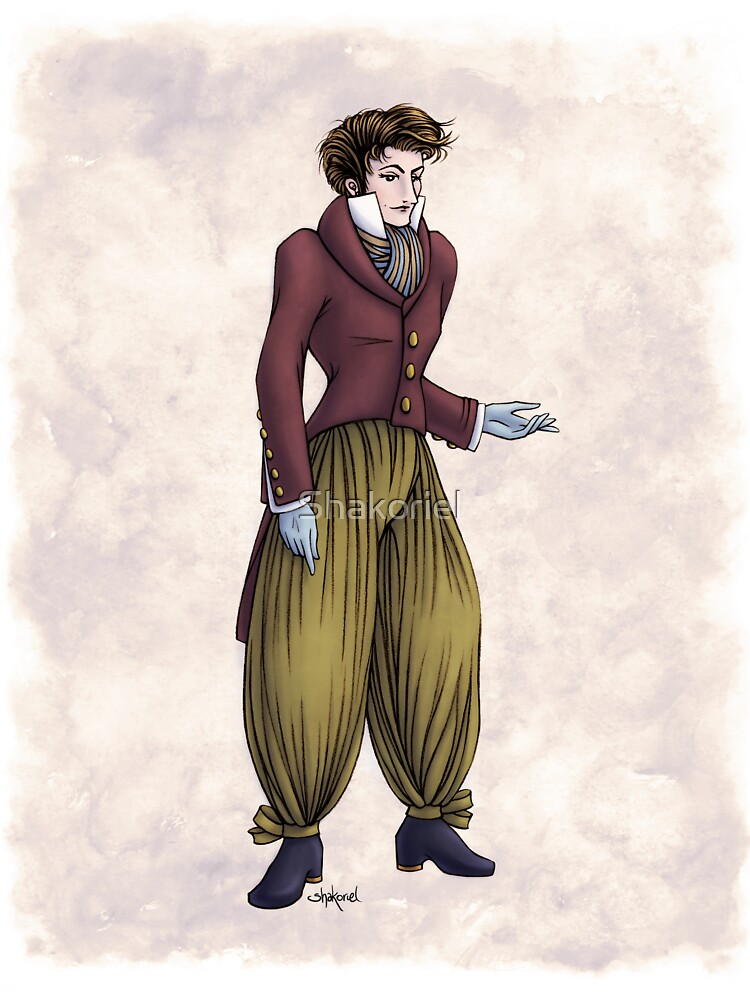 Mr Postumus Enderby - Regency Fashion Illustration by Shakoriel