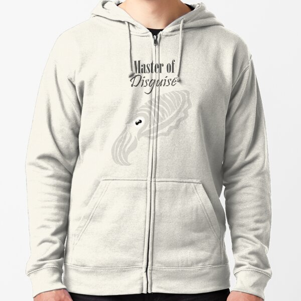 Master of Disguise - Tribalish Cuttlefish (for light-colored items) Zipped Hoodie
