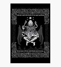 Celtic Cthulhu Photographic Print