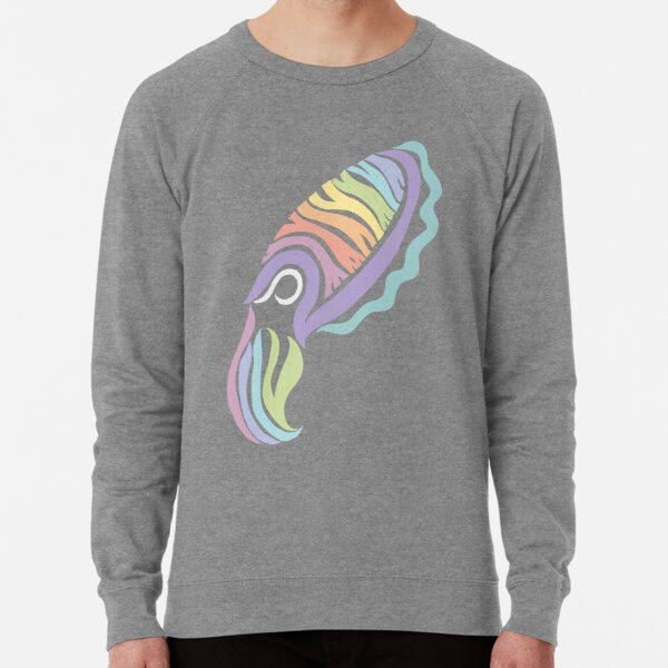 Deep-sea Pastel - Tribalish Cuttlefish Lightweight Sweatshirt