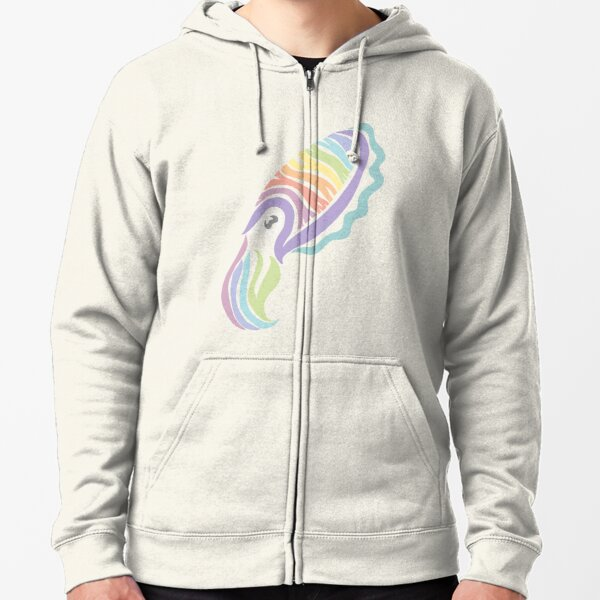 Deep-sea Pastel - Tribalish Cuttlefish Zipped Hoodie
