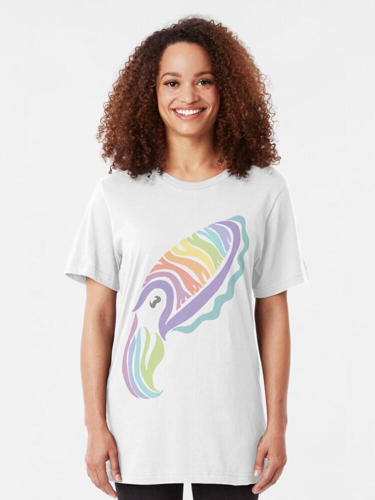 Alternate view of Deep-sea Pastel - Tribalish Cuttlefish Slim Fit T-Shirt