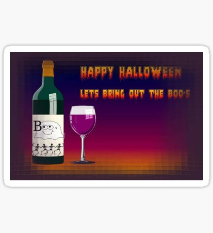 Happy Halloween Let's Bring Out the Boo's Greeting Sticker