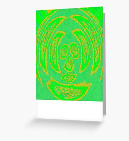 Mr Squiggly Tee Greeting Card