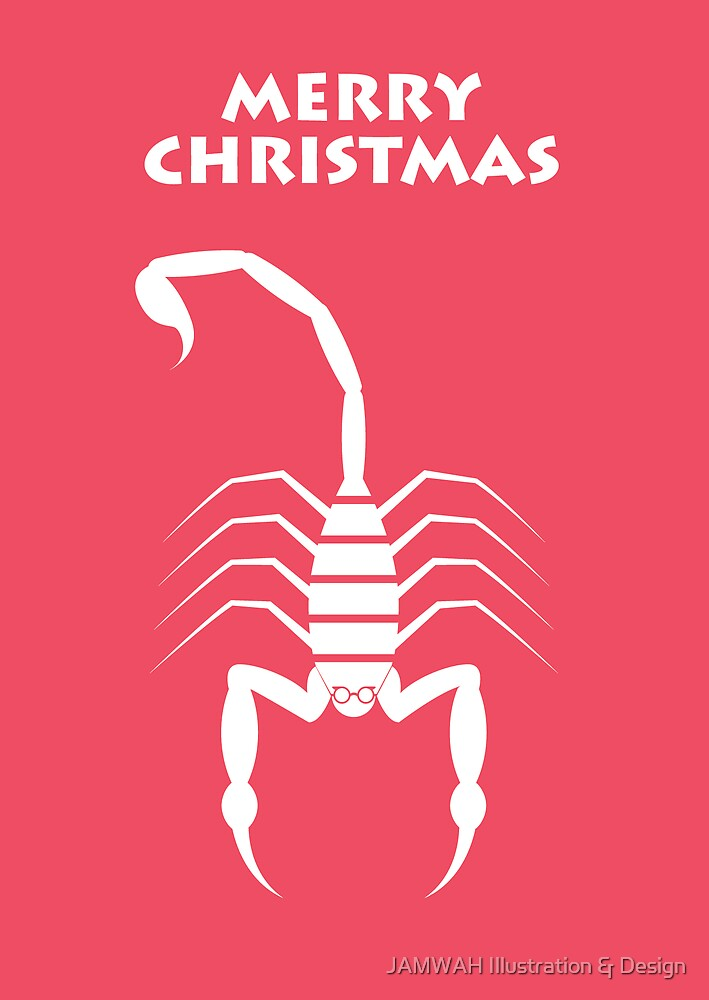 Scorpion Christmas by JAMWAH Illustration & Design