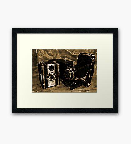 Old Cameras 2 Framed Print