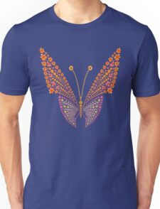 Flowers butterfly silhouette Unisex T-Shirt