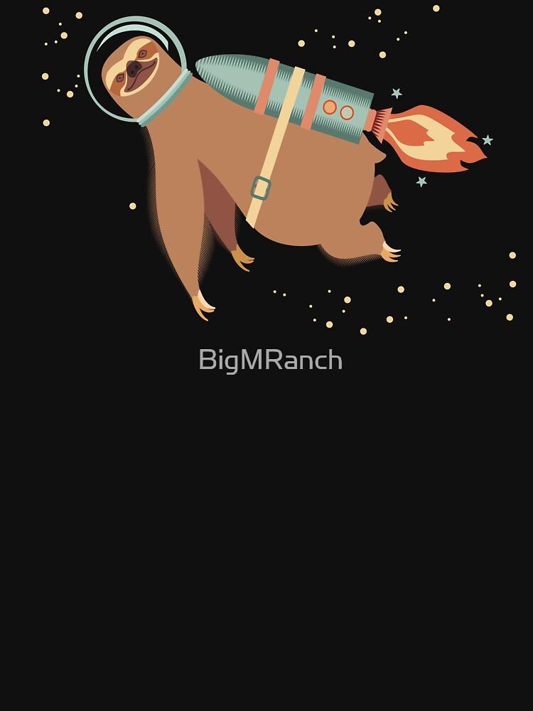 Happy sloth spaceman rocket jet pack von BigMRanch