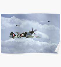 Spitfire XIV,  V-1 Hunter Poster