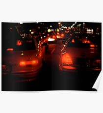NEW YORK TAXI LIGHTS Poster
