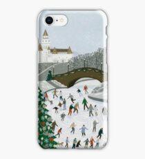 Ice skating pond iPhone Case/Skin