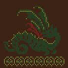 Cross stitch dragon by Tee NERD