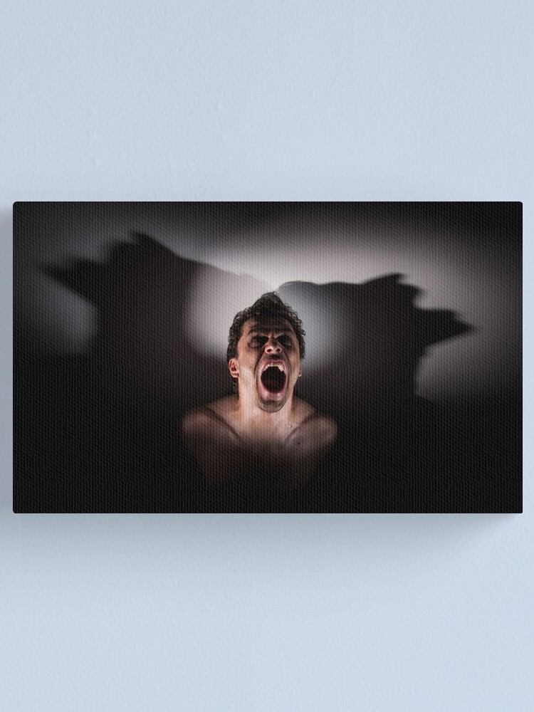 Alternate view of scream Canvas Print