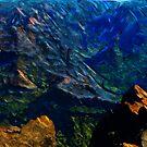 Waimea Canyon 21 Abstract Impressionism by pjwuebker
