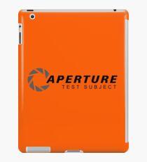 Aperture Laboratories Test Subject iPad Case/Skin