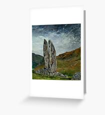 'Standing Stone, The praying hands of Mary' Greeting Card