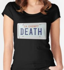 Government Plates by Death Grips Women's Fitted Scoop T-Shirt