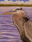 Great Blue Heron Profile by Phyllis Beiser