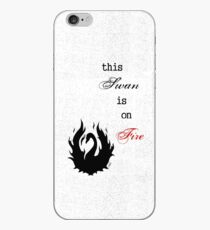 This SWAN is on FIRE iPhone Case