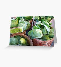 'Cabbage' Greeting Card