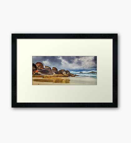 Promise of a storm Framed Print