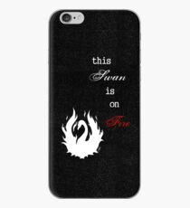 This Swan is on Fire (Black) iPhone Case