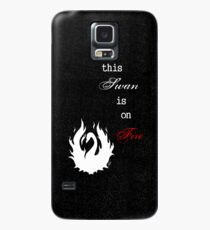 This Swan is on Fire (Black) Case/Skin for Samsung Galaxy