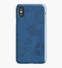 Gallifrey Pattern - Blue iPhone Case/Skin