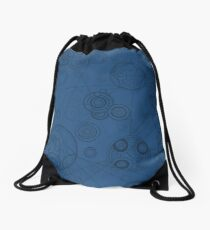 Gallifrey Pattern - Blue Drawstring Bag
