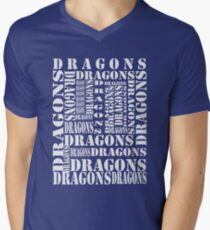 """Dragons Dragons"" T-Shirt Men's V-Neck T-Shirt"