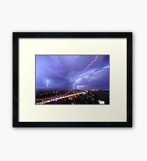 Multiple Exposure | Lightning IV Framed Print