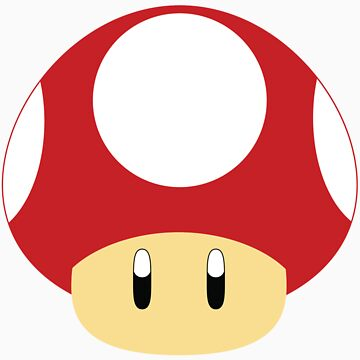 Mario-Red Mushroom by aljoschakersna