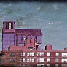 2 Buildings, 1 Radio Tower, 1 Street Lamp by emotionalorphan