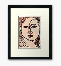 portrait of suzi wong Framed Print